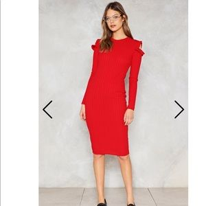 Cut Outta Here Ribbed Dress